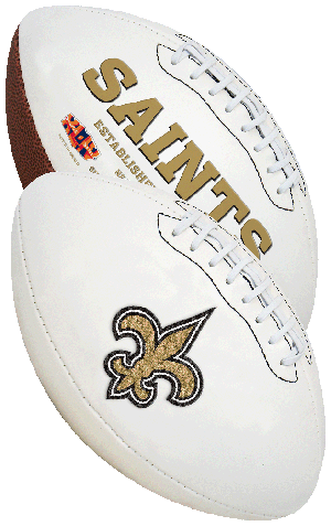Rawlings NFL New Orleans Saints Signature Series Full Size Football