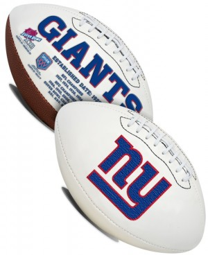 New York Giants K2 Signature Series Full Size Football