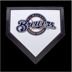 Milwaukee Brewers Authentic Full Size Home Plate