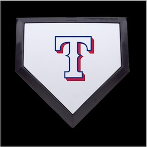 Texas Rangers Authentic Full Size Home Plate