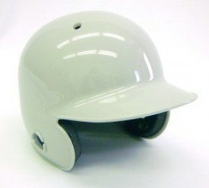 Grey Blank Customizable Authentic Mini Batting Helmet Shell