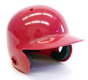 Scarlet Blank Customizable Authentic Mini Batting Helmet Shell