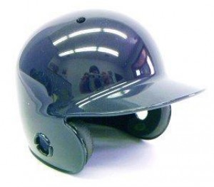 Navy Blank Customizable Authentic Mini Batting Helmet Shell
