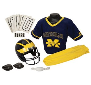 Michigan Wolverines Kids (Ages 4-6) Small Replica Deluxe Uniform Set
