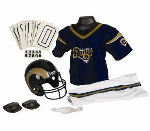 Saint Louis Rams 2000-2016 Throwback Kids (Ages 4-6) Small Replica Deluxe Uniform Set