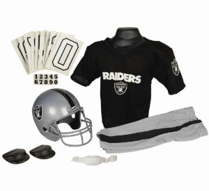 Oakland Raiders Kids (Ages 4-6) Small Replica Deluxe Uniform Set