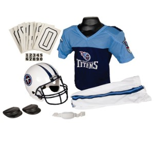 Franklin NFL Tennessee Titans 1999-2017 Throwback Youth (Ages 4-6) Small Deluxe Uniform Set Football Costume