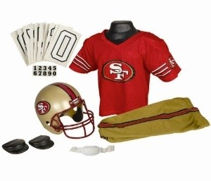 San Francisco 49ers Kids (Ages 7-9) Medium Replica Deluxe Uniform Set
