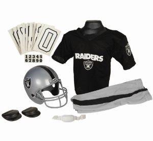 Oakland Raiders Kids (Ages 7-9) Medium Replica Deluxe Uniform Set