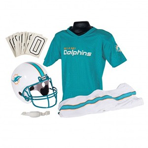 Franklin NFL Miami Dolphins 2013-2017 Throwback Youth (Ages 7-9) Medium Deluxe Uniform Set Football Costume