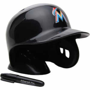 Rawlings MLB Miami Marlins Replica Mini Batting Helmet