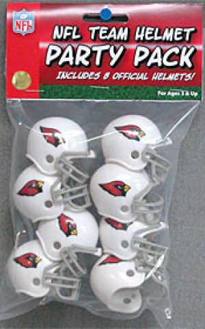 Arizona Cardinals Replica Gumball Party Pack Helmets 8ct