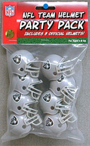Oakland Raiders Replica Gumball Party Pack Helmets 8ct
