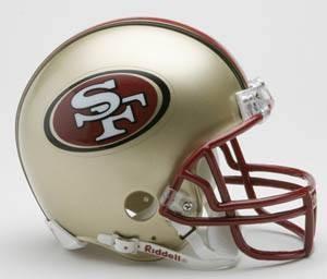 San Francisco 49ers 1996-2008 Throwback Replica Mini Helmet