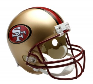 San Francisco 49ers 1996-2008 Throwback Replica Full Size Helmet