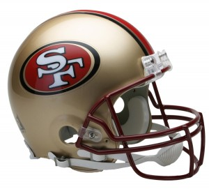 San Francisco 49ers 1996-2008 Throwback Authentic Full Size Helmet