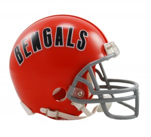 Cincinnati Bengals 1968-1979 Throwback Replica Mini Helmet