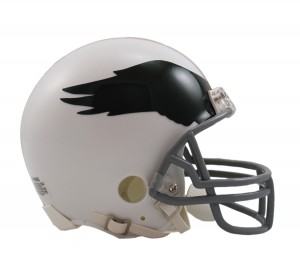 Philadelphia Eagles 1969-1973 Throwback Replica Mini Helmet