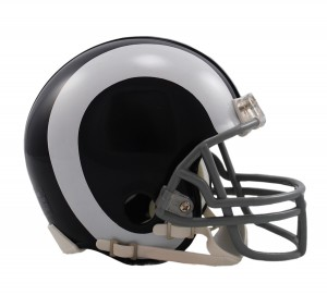 Los Angeles Rams 1965-1972 Throwback Replica Mini Helmet