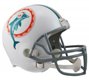 Miami Dolphins 1972 Throwback Replica Full Size Helmet