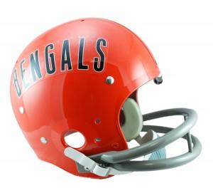 Cincinnati Bengals 1968-1979 Throwback Rep TK Susp Full Size Helmet