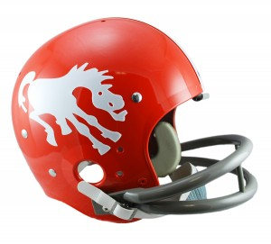 Denver Broncos 1962-1965 Throwback Replica TK Susp Full Size Helmet