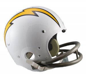 San Diego Chargers 1961-1973 Throwback Rep TK Susp Full Size Helmet