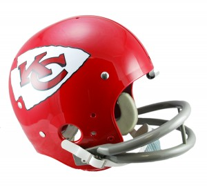 Kansas City Chiefs 1963-1973 Throwback Rep TK Susp Full Size Helmet