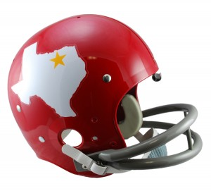 Dallas Texans 1960-1962 Throwback Replica TK Susp Full Size Helmet