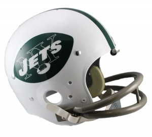 New York Jets 1965-1977 Throwback Replica TK Susp Full Size Helmet