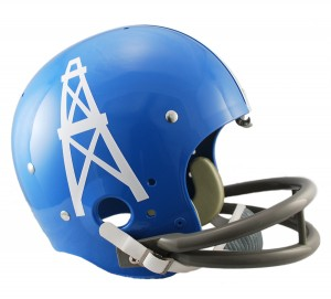 Houston Oilers 1960-1962 Throwback Replica TK Susp Full Size Helmet