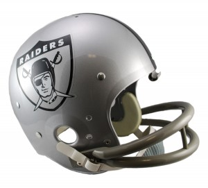 Los Angeles Raiders 1963 Throwback Replica TK Susp Full Size Helmet