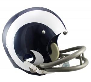 Los Angeles Rams 1965-1972 Throwback Replica TK Susp Full Size Helmet