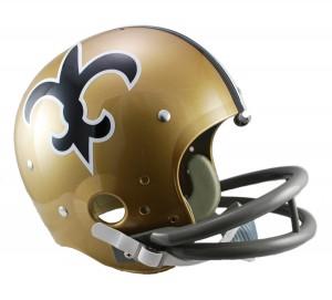 New Orleans Saints 1967-1975 Throwback Rep TK Susp Full Size Helmet