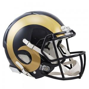 Riddell NFL Saint Louis Rams 2000-2016 Throwback Revolution Speed Authentic Full Size Helmet