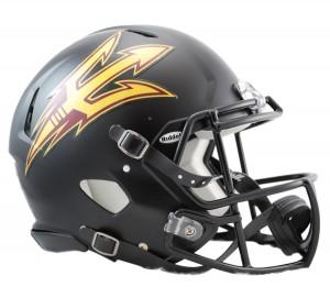 Arizona St Sun Devils Black Authentic Revo Speed Full Size Helmet