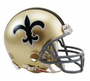New Orleans Saints 1967-1975 Throwback Replica Mini Helmet