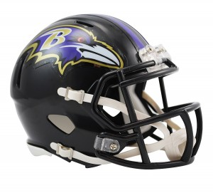 Baltimore Ravens Revolution Speed Mini Helmet