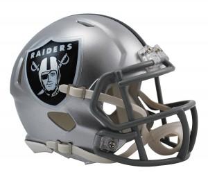 Oakland Raiders Revolution Speed Mini Helmet
