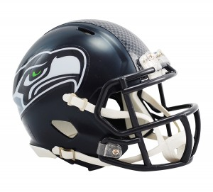 Riddell NFL Seattle Seahawks Matte Navy Revolution Speed Mini Helmet
