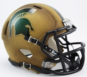 Michigan St Spartans 2011 Special Throwback Revolution Speed Mini Helmet