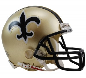New Orleans Saints 1976-1999 Throwback Replica Mini Helmet