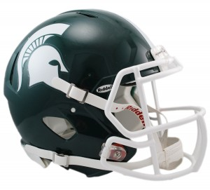 Michigan St Spartans Authentic Revolution Speed Full Size Helmet