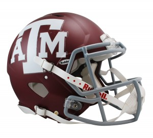 Texas A&M Aggies Matte Authentic Revolution Speed Full Size Helmet