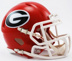 Georgia Bulldogs Revolution Speed Mini Helmet