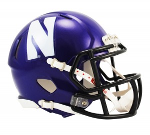 Northwestern Wildcats Revolution Speed Mini Helmet