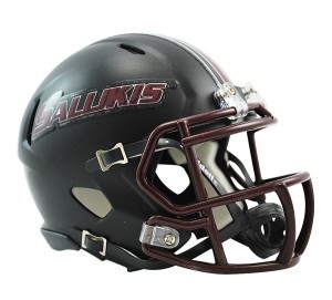 Southern Illinois Salukis Matte Black Revolution Speed Mini Helmet