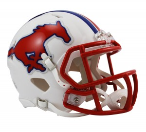 SMU Mustangs Revolution Speed Mini Helmet