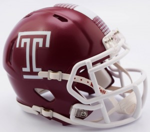 Temple Owls Revolution Speed Mini Helmet NEW 2013
