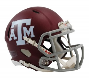 Texas A&M Aggies Matte Maroon Revolution Speed Mini Helmet